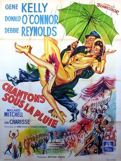 poster Gene Kelly, Singin In The Rain, Dancing In The Rain, The Rain Movie, Old Movie Stars, Classic Movie Posters, Classic Movies, Old Movies, Vintage Movies