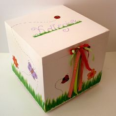 Wooden baptism/ toy box themed Ladybug at www.happyrooms.gr