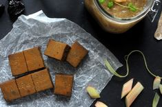 Raw Liquorice Toffee w/ Rhubarb Compote @ Earthsprout