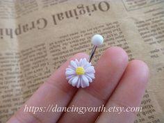 Beatiful chrysanthemum Rose Daisy Flower Belly Button Ring,  Belly Ring, on Etsy, 33:40kr