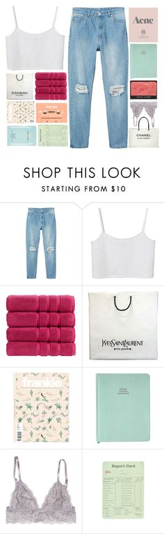 """""""GOT AN EMPTY CUSHION ON THAT SOFA NOW/TAGLIST"""" by e-phermal on Polyvore featuring Monki, Christy, Yves Saint Laurent, Prada, NARS Cosmetics, Chanel and Estée Lauder"""