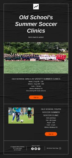 Youth Soccer, Old School, Clinic, Action, Summer, Vintage, Group Action, Summer Time, Youth Football
