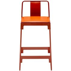 """""""Mingx"""" Indoor Steel Low Stool with Back by Konstantin Grcic for Driade"""