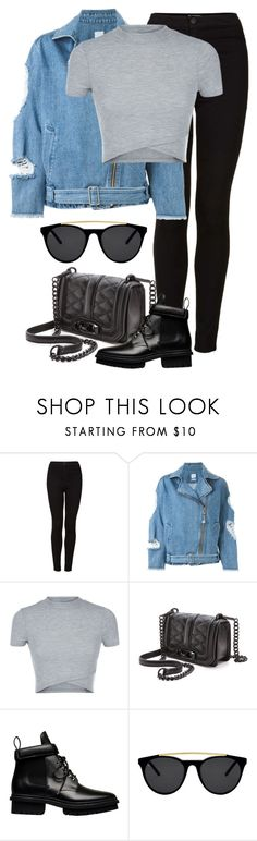 """""""Untitled #2194"""" by annielizjung ❤ liked on Polyvore featuring Topshop, Steve J & Yoni P, Rebecca Minkoff, Balenciaga and Smoke x Mirrors"""