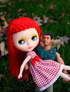 Blythe and Action man