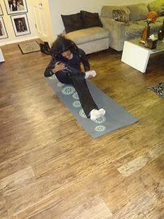 I am at home doing Yoga I am feeling peaceful