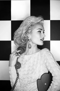 Rosie Huntington-Whiteley for Harper's Bazaar UK, March 2014 Photographed by: Karl Lagerfeld Styled by: Carine Roitfeld