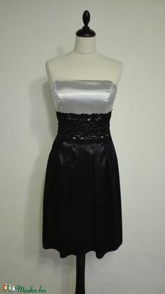 Csipkés ezüst -fekete alkalmiruha  (nicoledesign) - Meska.hu Women's Fashion, Formal Dresses, Tops, Fashion Women, Formal Gowns, Womens Fashion, Shell Tops, Women's Clothes