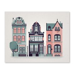 A set of row houses with inspiration drawn from San Francisco, London, and Cleveland.