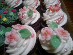 Fancy girly cupcakes