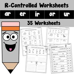 R Controlled Worksheets AR ER IR OR UR Reading Resources, Classroom Resources, Creative Teaching, Teaching Ideas, English Language, Language Arts, Sounding Out Words, 3rd Grade Classroom, Spelling Activities