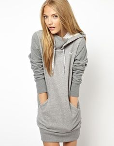 Puma Hoodie Dress - what a fun weekend look.