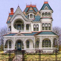 Coolest Victorian House Colors Ideas, Choosing for Your Home or Office - Architecture Victorian Architecture, Beautiful Architecture, Beautiful Buildings, Beautiful Homes, House Beautiful, House Architecture, Victorian Style Homes, Victorian Homes Exterior, Victorian House Plans