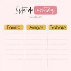 lista de invitados para tu boda #listadeinvitados #boda #wedding #bride #invitaciones
