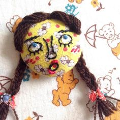 Was looking good at beginning, but ended up in such a scary face... #craft #handmade #handicraft #embroidery #face #handcrafted / no. 007