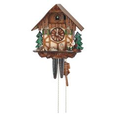 Made in the Black Forest region of Germany this cuckoo clock features a resting wood chopper Intricate details hand-carved and hand-painted and made from real Black Forest linden wood. 11 inch, 1-day movement. $396.00