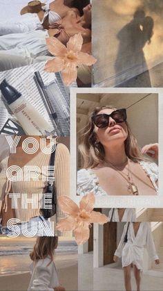 Neutral Beige Wallpaper Collage