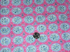 Full Vintage Feedsack: Pink with Little Blue and White Flowers #Vintage