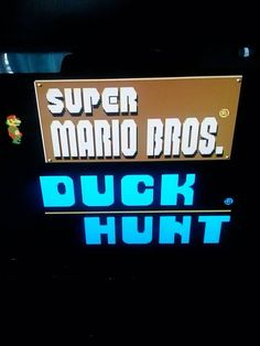 My fav Nintendo games Mario Brothers and Duck Hunt. 90's toys.