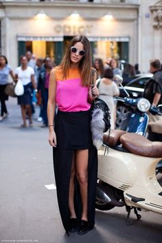 color-blocked and high-low
