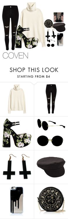 """""""COVEN"""" by stormyswitch on Polyvore featuring River Island, Rochas, Miu Miu, Chicnova Fashion, Billabong and Preciously"""