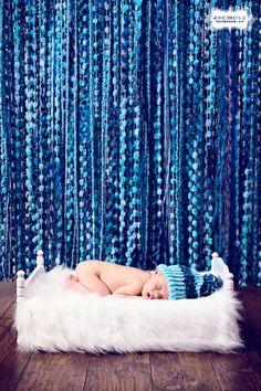 Blue Yarn Photography Backdrop. $85.00, via Etsy.