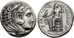 """Ancient #Greek coin from #Macedonia with the Greek inscription: """"ΒΑΣΙΛΕΩΣ ΑΛΕΞΑΝΔΡΟΥ"""""""