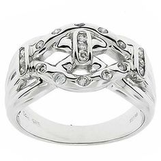 0.25 Cttw IGL Certified Round Brilliant Diamonds Cocktail Ring 14K White Gold #Cocktail