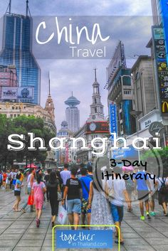 Some of the top things to do when traveling to Shanghai, China. This is a great itinerary for food, visiting the Bund, Yuyuan Gardens, Zhujiajiao Ancient Water Town, and temples. Including how to ride the metro in Shanghai. http://togetherinthailand.com/shanghai-three-day-experience/