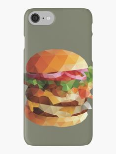 Gourmet Burger Polygon Art • Also buy this artwork on phone cases, apparel, stickers, and more.