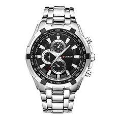 ae7284c1581 CURREN 8023 Fashion large dial leisure business watches Men quartz watch  waterproof watch - Black+ · VendaRelógios ...
