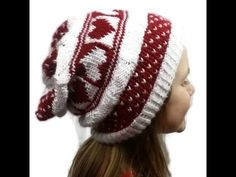 Loom Knit Queen Of Hearts Hat Beginning to End - YouTube