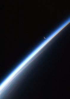 Crescent Moon, Earth's Atmosphere (NASA, International Space Station Science, 09/04/10 @Tami Arnold Knepper
