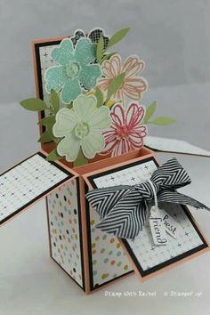 Stampin up card in a box I cased from stamping T! Using sweet sorbet sale a bration dsp and flowershop stamps.