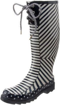 Chooka Women's Striped Knee-High Rain Boot, Navy/White, 9 M US Chooka, http://www.amazon.com/dp/B004K1DK70/ref=cm_sw_r_pi_dp_uBlnrb0FV6S39