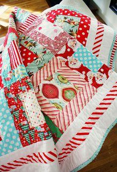Vintage look Christmas fabrics.