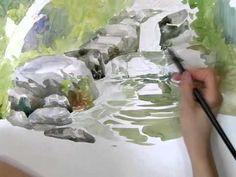 Near Merrivale, Dartmoor Watercolour Painting Lesson - YouTube