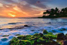 kauai Sunset Poipu Beach - Kauai - Hawaii