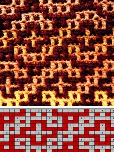 free counting, hook diagram for mosaic blanket, inspired by Havan … – knitting charts Tapestry Crochet Patterns, Crochet Stitches Patterns, Mosaic Patterns, Stitch Patterns, Knitting Patterns, Crochet Diagram, Crochet Chart, Filet Crochet, Crochet Motif