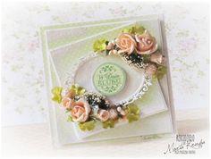 Ślubna z herbacianymi różyczkami