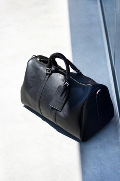 "A chic and practical way to travel; don""t forget your Sole Society vegan weekender bag!"