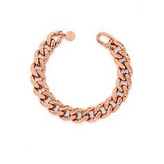 Bracciale da Donna in Bronzo Rosa diamantato - € 79 Leggi tutte le caratteristiche... Bracelets, Gold, Jewelry, Fashion, Moda, Jewlery, Bijoux, La Mode, Jewerly