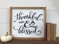 "Thankful & Blessed Sign Thankful Jar Thankful Cards Thankful Praying Hands Blessing Mix Blessing Box The Thankful Tree Get Your ""Thankful & Blessed"" T-Shirt Here: Thanksgiving Table Settings, Thanksgiving Centerpieces, Thanksgiving Crafts, Holiday Crafts For Kids, Craft Projects For Kids, Crafts For Kids To Make, Thankful Tree, Thankful And Blessed, Blessed Sign"