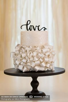 pearlized gum paste ribbons adorned with nonpareils Wedding Cake Centerpieces, Wedding Cakes, Cake Gallery, Cake Pictures, Wedding Cake Inspiration, Gorgeous Cakes, Gum Paste, Confectionery, Let Them Eat Cake