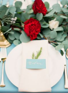 Photography: Mint Photography - http://www.stylemepretty.com/portfolio/mint-photography   Read More on SMP: http://www.stylemepretty.com/2015/02/06/romantic-cranberry-dusty-blue-wedding-inspiration/