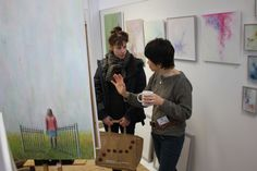 Junko O'Neill displaying and selling Fine Art until 7pm tonight. Find us behind Eastleigh Post Office.