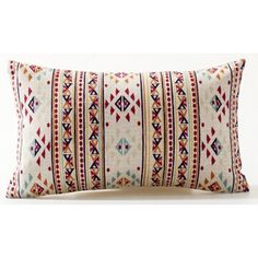 Bohemian Style Colorful Exotic Mandala Boho Style Red Striped Triangle... (11 AUD) ❤ liked on Polyvore featuring home, home decor, throw pillows, red home decor, boho throw pillows, lumbar throw pillow, red accent pillows and red home accessories