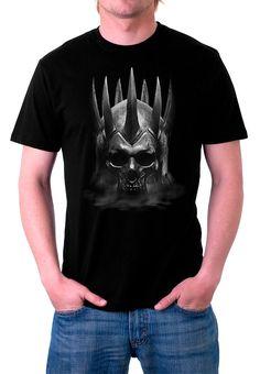 Camiseta skull The Witcher 3: Wild Hunt. Modelo 1 Para los fans de este exitoso videojuego aquí tenéis esta camiseta 100% fabricada en algodón con un diseño relacionado con The Witcher 3: Wild Hunt.