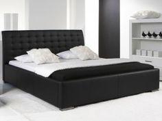 Black headboard by Black Headboard, Modern Interior Design, Home Bedroom, Betta, Mattress, Diy Home Decor, House Plans, Furniture, Images