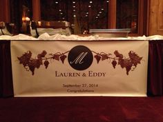 The custom banner I designed for the evening Custom Banners, My Design, Congratulations, Wine
